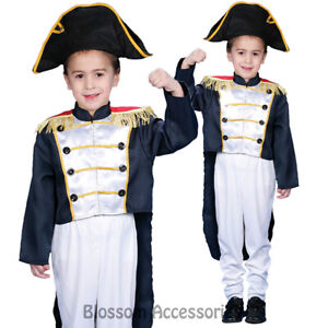 CK718-Colonial-General-Dress-Up-America-Child-Kids-Historical-Fancy-Boys-Costume