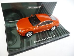 Minichamps 1:43 Bentley Continental Gt 2011 orange métallisé 139981