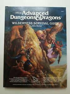 Dungeons & Dragons Wilderness Survival Guide Mohan 1986 TSR 2020 - C1011