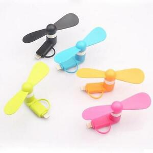 Lot 3 pcs Portable Mini Electric Fan Cooling Cooler Cell Phone For iphone 5/6s/7