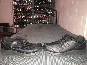 new style de963 bda47 Details about New Balance 575 Mens Leather Athletic Walking Shoes Size 12  Black