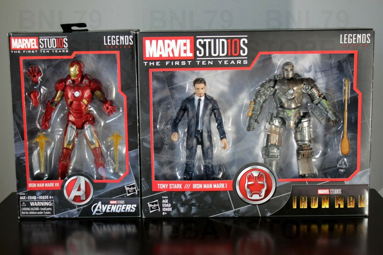 Tony Estrellak & Iron Man Mark I y Mark VII leyendas de Marvel Studios 10 primeros años