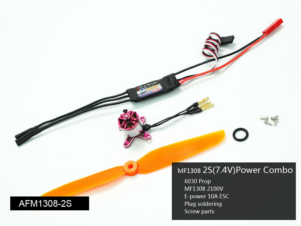 2S Micro energia System Combo with 1106 1106 1106 1108 1306 1308 Motor, For RC modello. d0811b