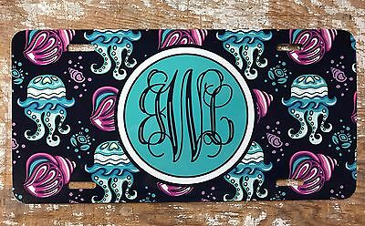 Personalized Beach Sunset License Plate Car Tag Initials Monogram Couples Custom