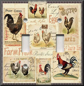 Details about Metal Light Switch Plate Cover - Kitchen Rooster Decor  Farmhouse Decor Roosters