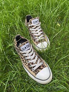 leopard print converse size 4
