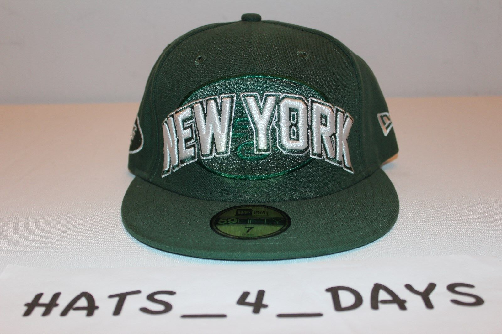 wholesale dealer f9e0b 9b84e ... promo code new era 59fifty new york jets green 7 white nfl afc fitted 7  green