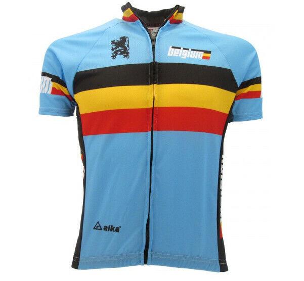 Maglia Ciclismo Belgio Abbigliamento Bicicletta Maniche corte