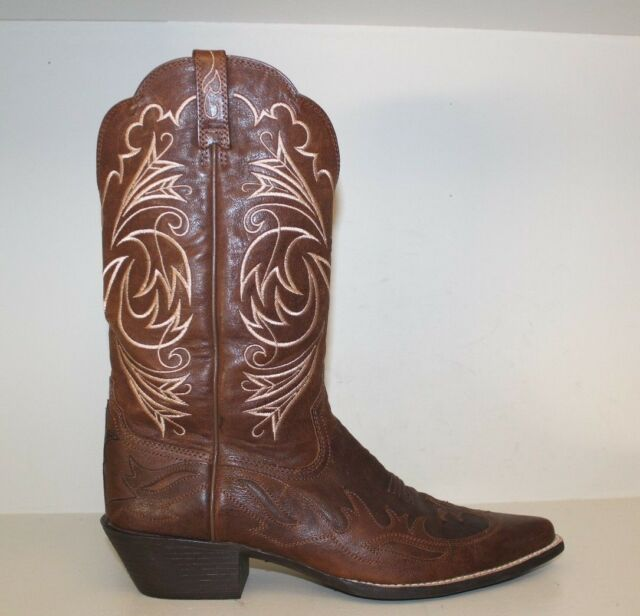 Ariat Womens Boots Sz 11 B Heritage Brown Leather Wing Tip Cowgirl 10005920