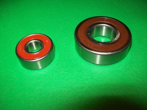 Delco CS130 Alternator Bearing Set 62000LUA 10mm wide /& 6203-2 Combination