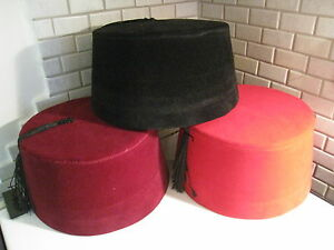 Image is loading ADULT-RED-FEZ-WITH-TASSLE-AUTHENTIC-TURKISH-FES- 065289a8361e