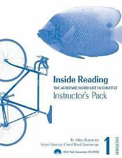 Inside Reading 1 Instructor Pack: The Academic Word List in Context