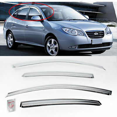 Sun Chrome Side Window Visor Vent Guards Rain for HYUNDAI 2007-2010 Elantra