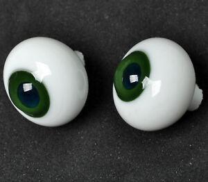 Good DarkGreen pupil/&Gray Iris 16mm Glass Eyes for Joint Reborn 1//4 BJD Dollfie