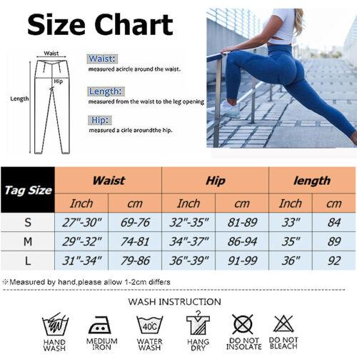 Women Anti-Cellulite Leggings Yoga Pants Trousers Activewears Butt Lift Fitness