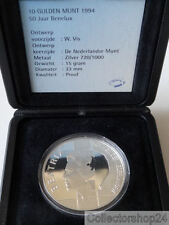 Coin / Munt Netherlands 10 Gulden 1994 Proof 50 years Benelux