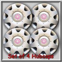 1998-1999 16 Vw Volkswagen Beetle Pink Daisy Flower Hub Caps, Wheel Covers
