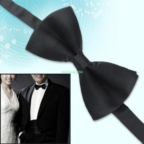 Wedding Prom Groom Tuxedo Suit Adjustable Satin Bow-Tie Dickie Bow Necktie Black