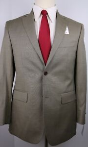 Barneys-House-Brand-Beige-Nailhead-Two-Button-Side-Vented-Wool-Suit-36-S-30-898
