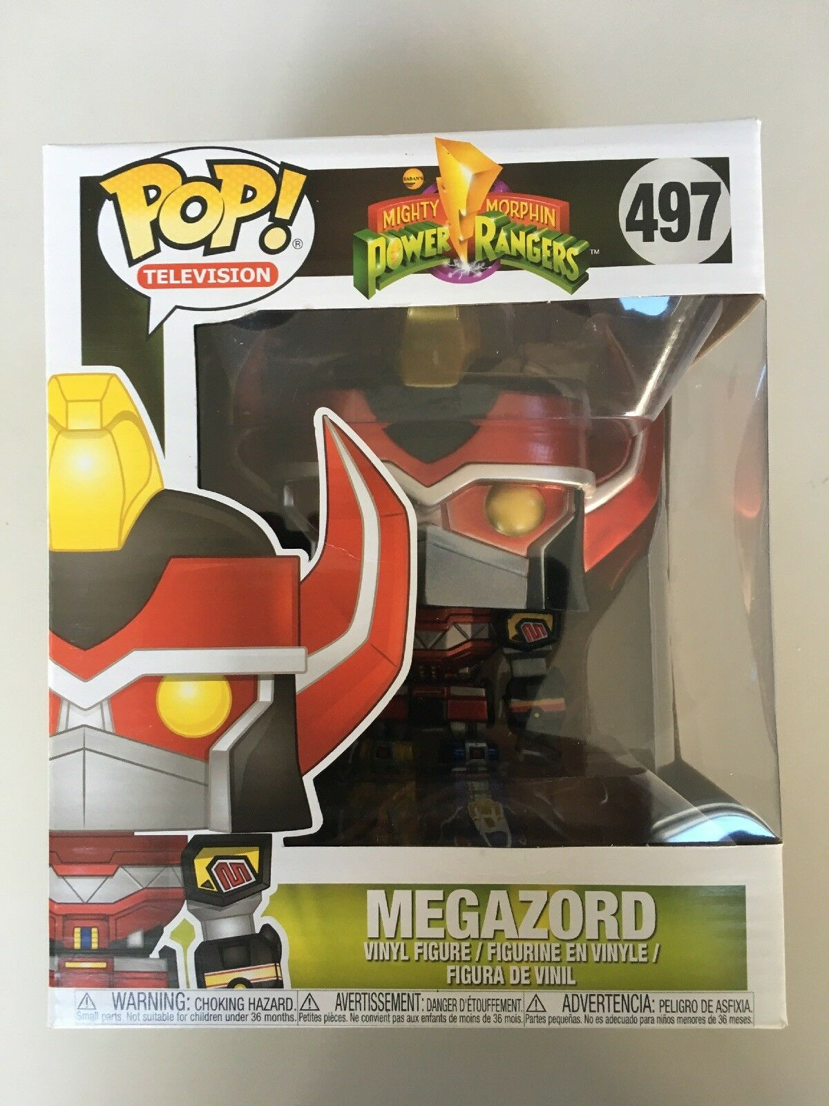 "FUNKO Pop Vinyl Power Rangers Megazord 6"" Super Größed Metallic Exclusive."
