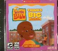 Little Bill Thinks Big By Scholastic - Early Math & Logic Ages 4 - 6 (cd-rom)