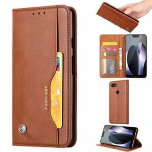 timeless design fb89b df237 Details about For Google Pixel 3 / 3 XL Retro Magnetic Flip Leather Wallet  Case Stand Cover