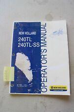 New Holland 240tl Amp Tl240 Ss Loader Operators Manual 2008