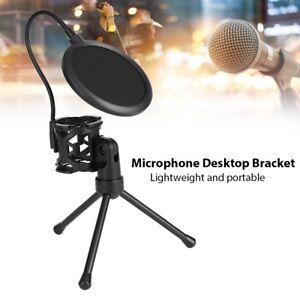 Mikrofon-Daempferbruecke-Shockproof-Filter-Halterung-Mic-Stand-fuer-Podcast-Studio