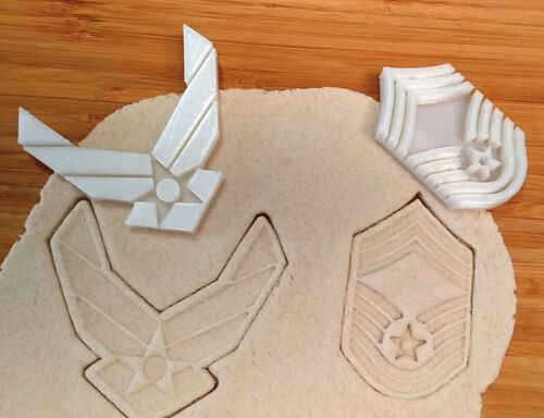 Military Air Force Logo 2 Piece Cookie Cutter U.S Choice of Sizes