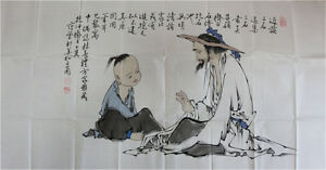 RARE-Chinese-100-Handed-Painting-By-Fan-Zeng-CF7