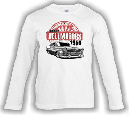 Kinder Langarm T-Shirt Chevy 56 Longsleeve weiss Jungen Mädchen V8 US Car Custom