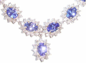 38-40ct-Tanzanite-amp-Diamond-Necklace-amp-Earrings-Set
