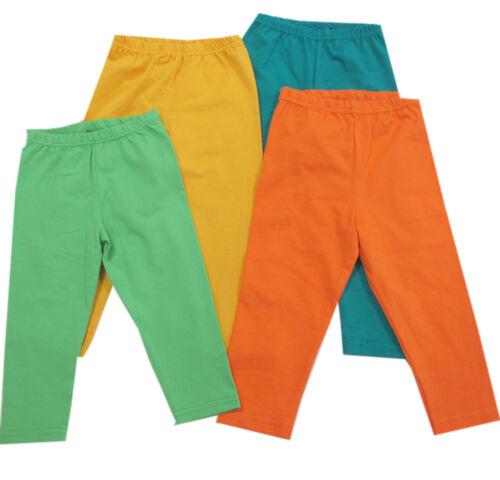 Kanz Hosen lange Hose Leggings Mädchen Grün Orange Gelb Baumwolle Gr.86,92,98