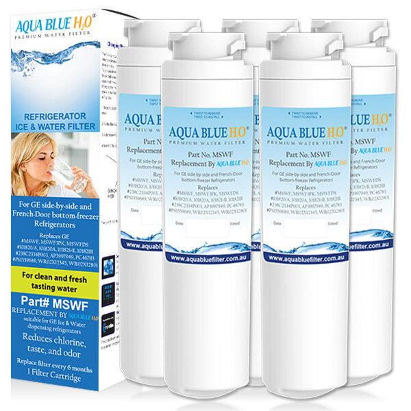 5 x x x GE MSWF Premium Compatible Fridge Water Filter Fits GCF23KGWA GSC23KSWA e17145