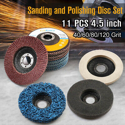 Remove Paint 5 Pack-Blue SIGNI 5 Pack 4-1//2 x 7//8 Poly Strip Discs Stripping Wheel for Angle Grinder Rust and Clean Welds Oxidation