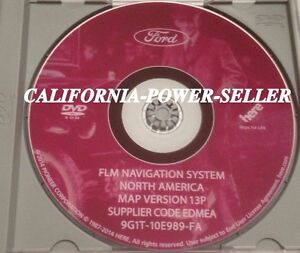 06 09 Ford Lincoln Mercury Navigation DVDDisk Map Version 13P