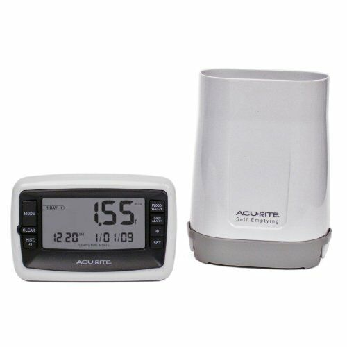 Acurite Digital Rain Gauge With Wireless Self-emptying Rain Collector 00899