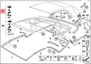 genuine bmw 3 series e46 convertible roof top repair kit oem rh ebay ie bmw e36 convertible top wiring diagram Convertible Top Motor