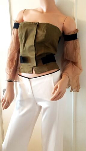 retail Military amp;g Bustier £650 Dolce Velcro Green amp; D Top Gabbana w4BBqgHA