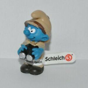 SAFARI-Khaki-clothes-SMURF-PVC-Figure-Schleich-vintage-SMURFS