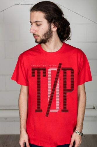 Official Twenty One Pilots Initial Line Unisex T-Shirt Three Songs Double Sided