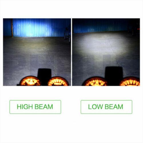 1x 48W 6 LED Motorrad H4 Scheinwerfer Birne Fern-Abblend Spotlicht Nebelleuchte
