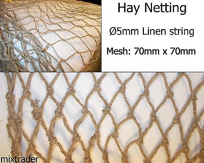 Net Netting 100x100x2mm Twisted String Cargo Cover Protection Strong Heavy Duty