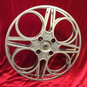 Vtg-15-inch-Cast-Aluminum-35mm-Goldberg-Bros-Movie-Projector-Film-Reel-1930-40-039-s