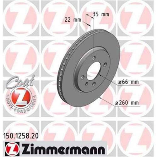 ZIMMERMANN 150.1258.20 Bremsscheiben 2 Stück für BMW