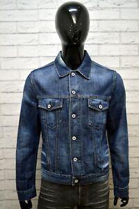 Giubbotto-Jeans-Blu-Uomo-ENERGIE-Taglia-L-Giacca-Denim-Jacket-Man-Cappotto