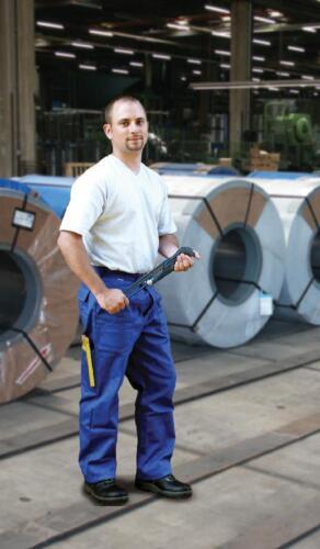 430 Pantaloni lavoro pantaloni federale Abbigliamento Professionale Blu//COSTUME CARNEVALE TG 60