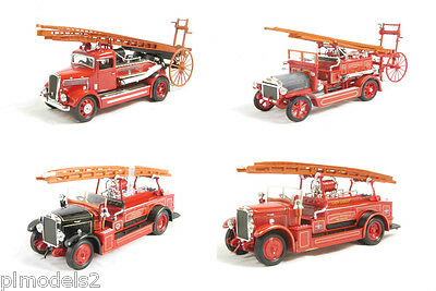 ROAD SIGNATURE - BRITISH FIRE ENGINES DENNIS + LEYLAND 1:43 SCALE BNIB