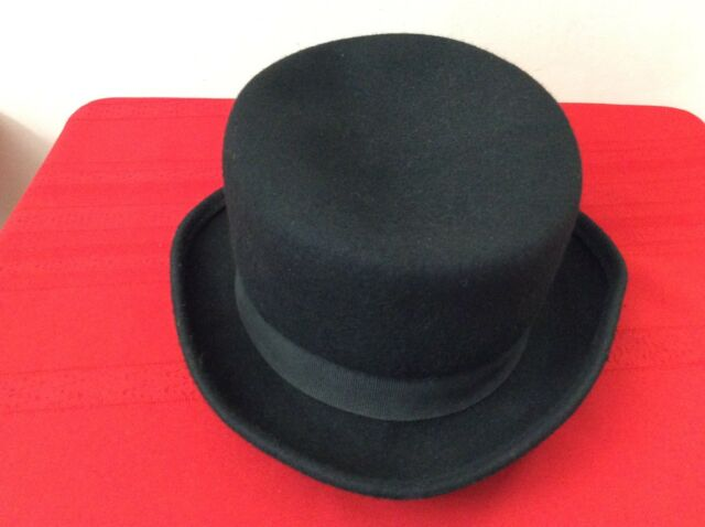 JCREW Classic Fedora Hat Black Wool Winter Fall Cap size One -S. Italy ( 0c05a7bdb569