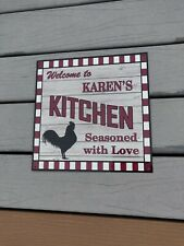 MICHELLE/'S Kitchen Welcome to Rooster Chic Wall Art Decor 12x12 Metal Sign SS89